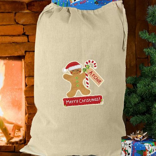 Gingerbread Man Cotton Sack